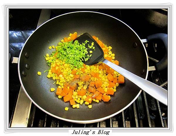 地瓜炒玉米做法5
