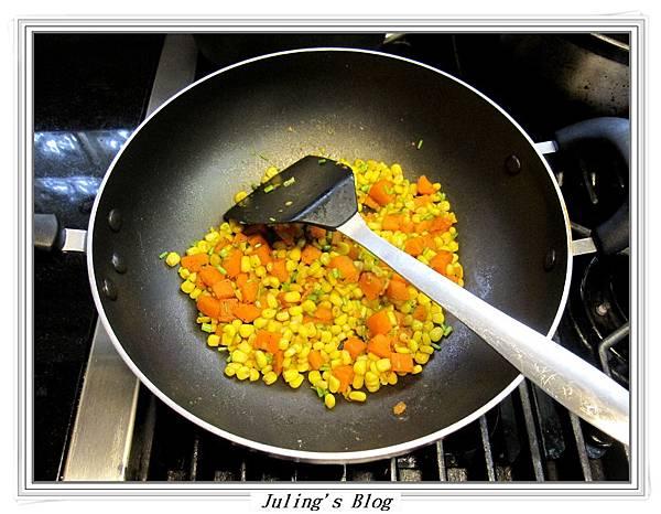 地瓜炒玉米做法6