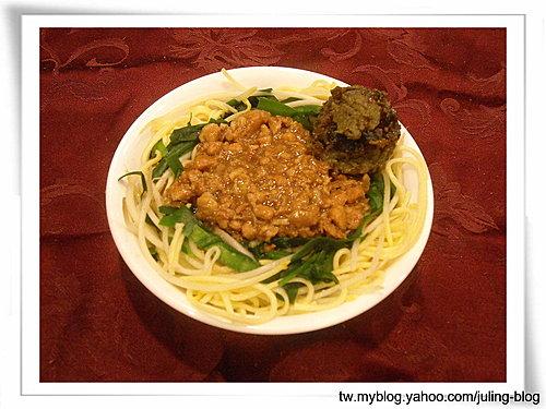 皮蛋肉燥乾拌麵與滷肉飯(肉燥兩吃)