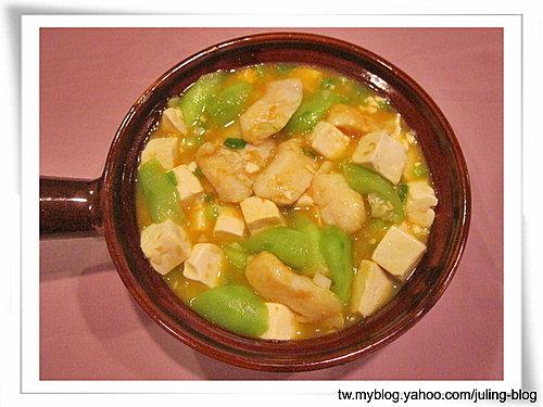 絲瓜鮮魚豆腐煲