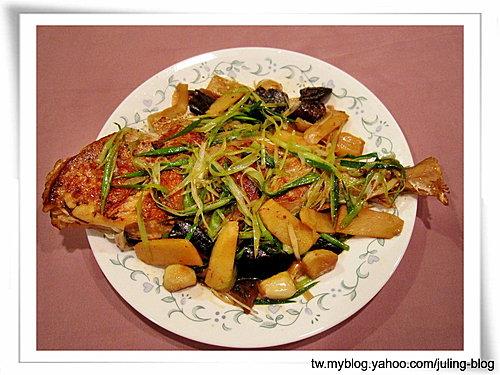蒜燒剝皮魚