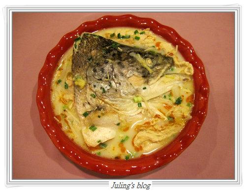 鮭魚頭豆漿鍋