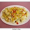 玉米白花菜