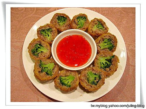 香酥綠花椰肉丸