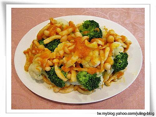 素蟹黃燴雙花