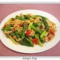 豆皮炒蘆筍