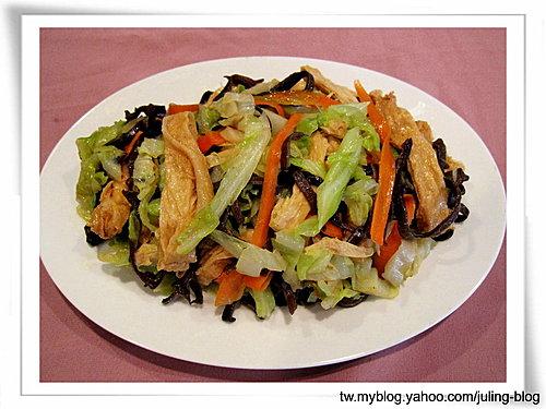 豆包炒鮮蔬
