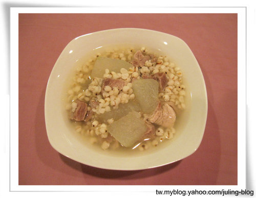 冬瓜薏仁豬肉湯