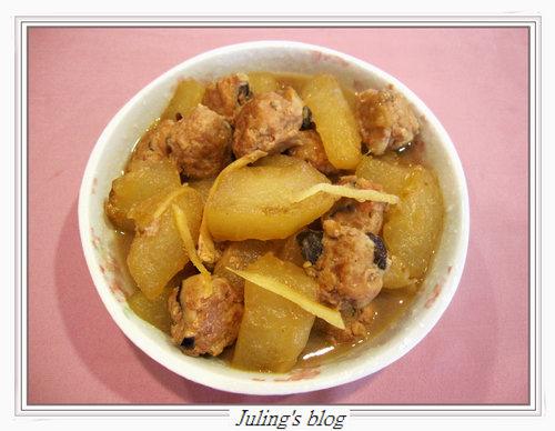 香菇肉丸燜冬瓜