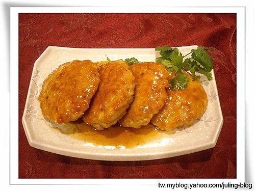 鮮蝦雞肉餅