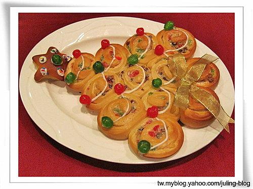 聖誕樹煉乳麵包捲