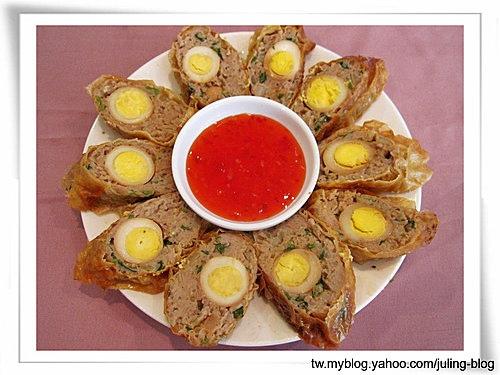 鵪鶉蛋肉捲