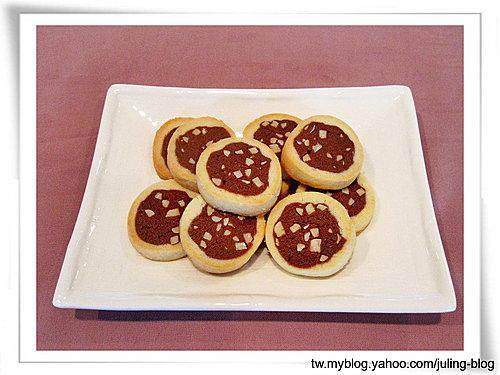雙色杏仁巧克力餅乾