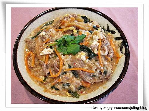泡菜牛肉粥