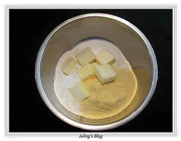 熱狗玉米蛋糕做法2