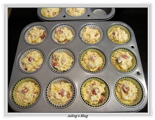 熱狗玉米蛋糕做法5