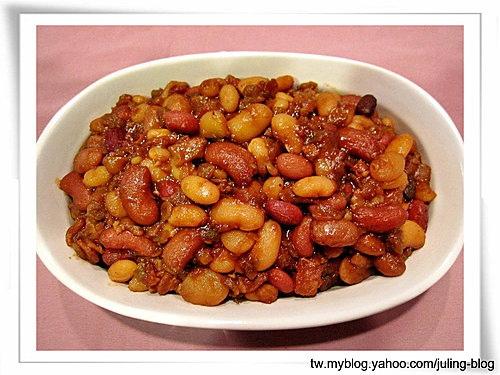 培根燉豆(baked beans)