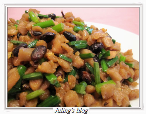 豆豉炒蘿蔔乾
