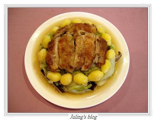 雞腿扣白菜