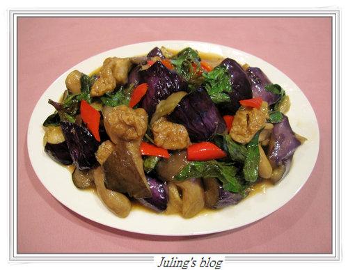 蠔菇麵筋燒紫茄
