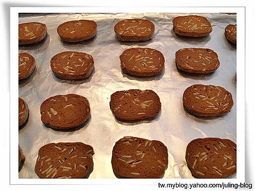巧克力杏仁餅乾10
