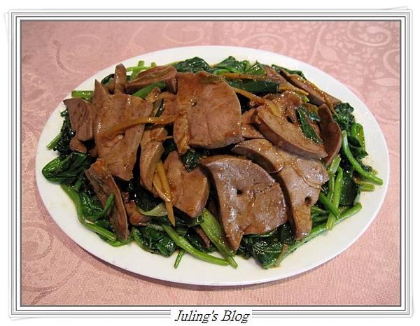 沙茶豬肝菠菜1