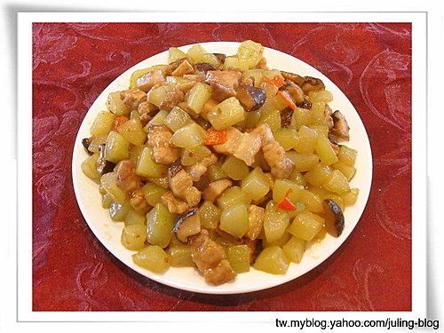 香菇黃瓜炒肉丁