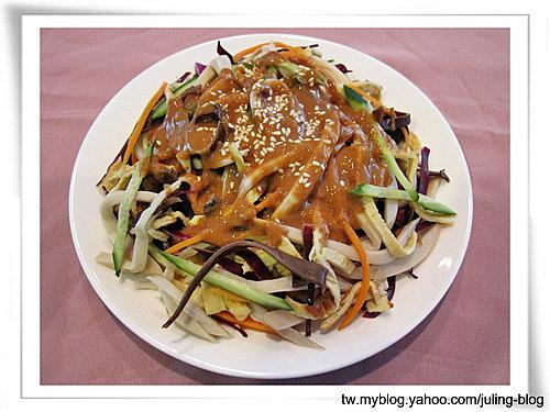 麻醬五彩拌杏鮑菇絲