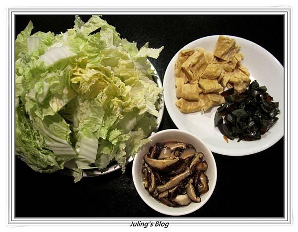 皮蛋滷白菜做法1