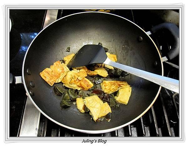 皮蛋滷白菜做法3