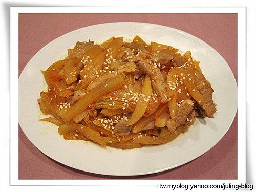 韓式泡菜炒蘿蔔