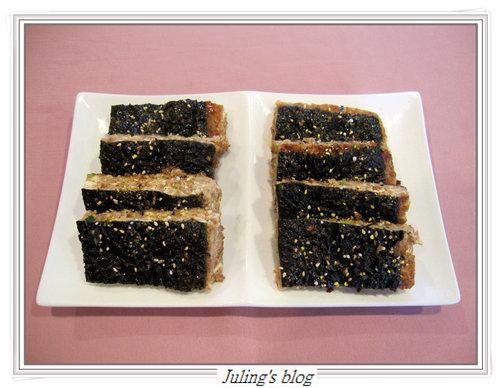 海苔豆腐肉餅