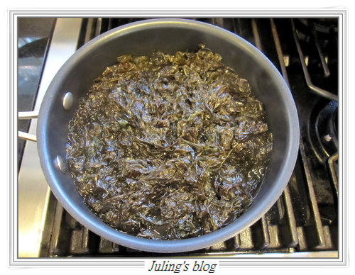 蒜苗炒紫菜1
