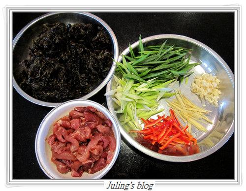 蒜苗炒紫菜2