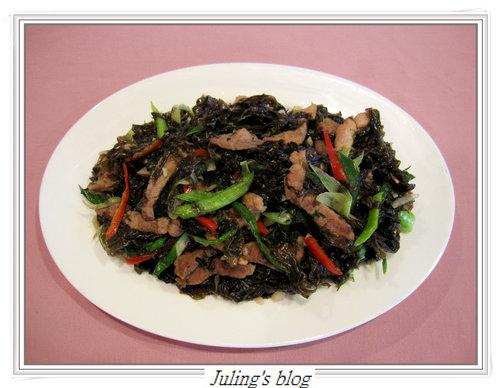 蒜苗炒紫菜9