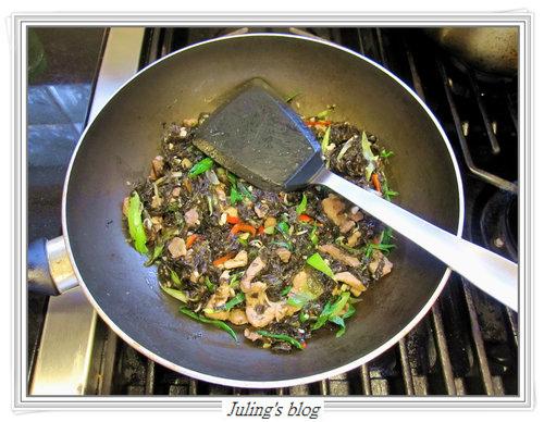 蒜苗炒紫菜8
