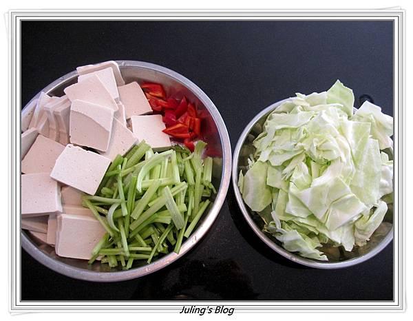 回鍋素肉做法1