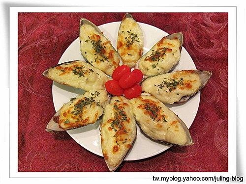 焗烤淡菜(mussels)