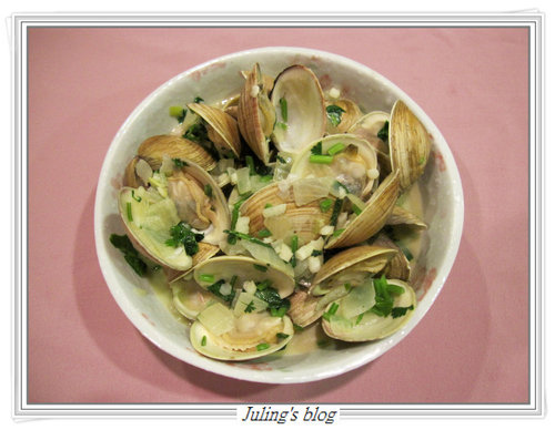 蒜香白酒蛤蜊