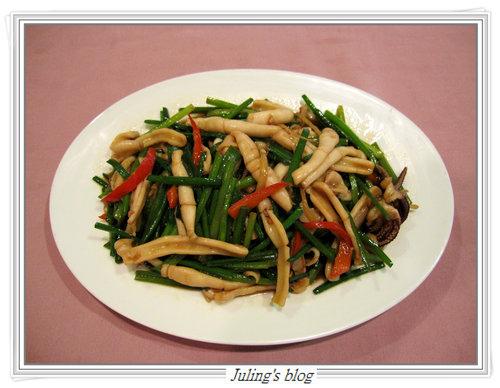 韭菜花炒鮮魷絲