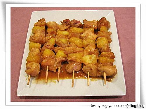 鳳梨咖哩雞肉串