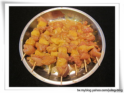 鳳梨咖哩雞肉串4