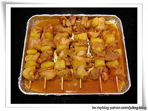 鳳梨咖哩雞肉串7