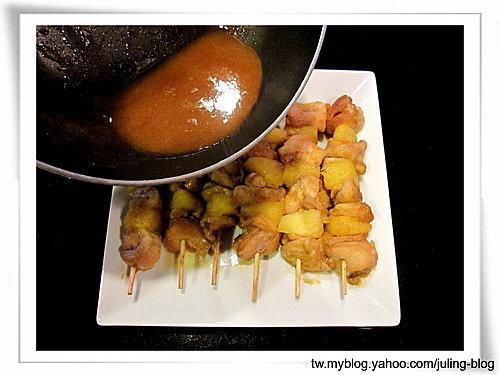鳳梨咖哩雞肉串10