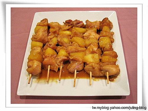 鳳梨咖哩雞肉串11