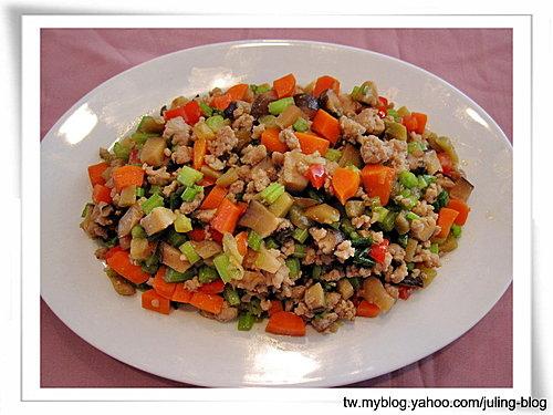 鮮蔬榨菜炒肉末