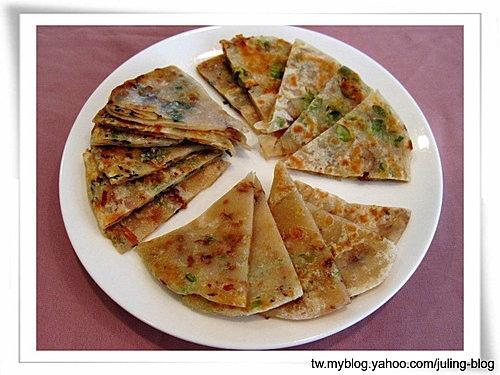 三味油蔥煎餅(雙蔥煎餅、香根油蔥煎餅、九層塔油蔥煎餅)