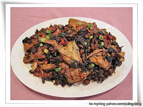 梅菜肉末燒豆包