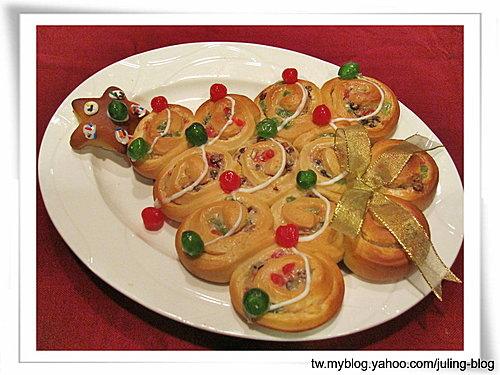 聖誕樹煉乳麵包捲19