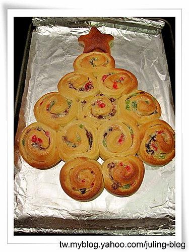 聖誕樹煉乳麵包捲17